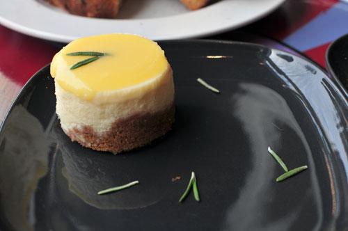 lovestruck cafe - lemon & rosemary cheesecake