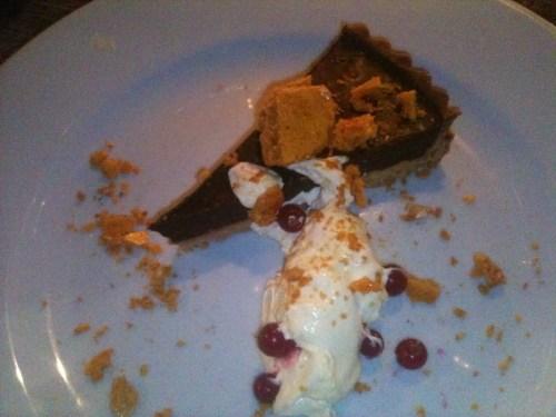 Brel - Chocolate and honeycomb tart
