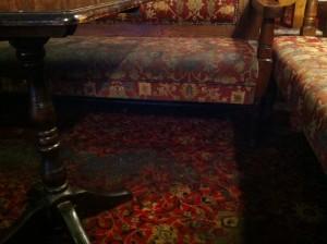 Corona bar dirty seats and floor