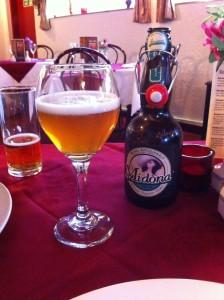 italian beer at Mira  Mara, Helensburgh. © food and drink Glasgow blog