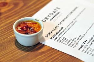 Drygate Brewery - savoury smoked Applewood brulee