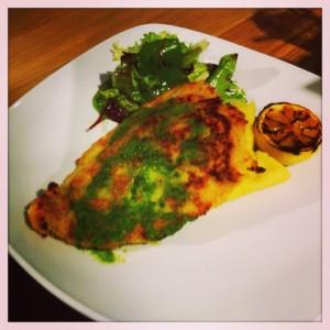 Kiev chicken schnitzel Giraffe restaurant review silverburn tesco Glasgow food drink blog
