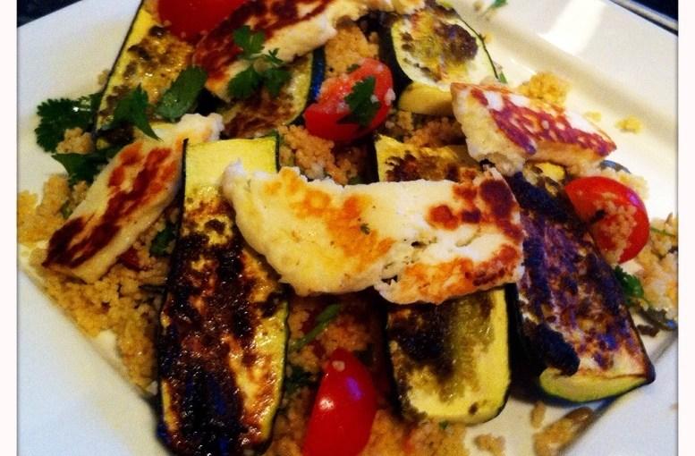 Recipe – Halloumi and Courgette Salad