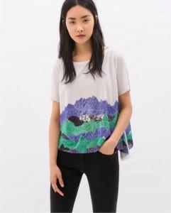 Zara short sleeved tshirt tee summer fashion food drink Glasgow blog