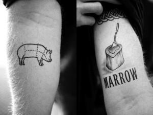 pig marrow tattoo