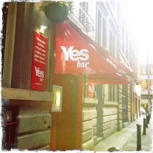 Yes bar Vespbar Glasgow drury street