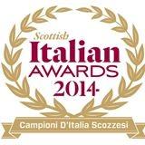Italian awards Glasgow thistle hotel Aldo zilli
