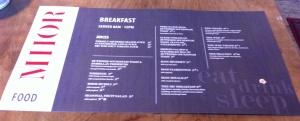 Scotland Mhor84 hotel accommodation meals breakfast bar budget