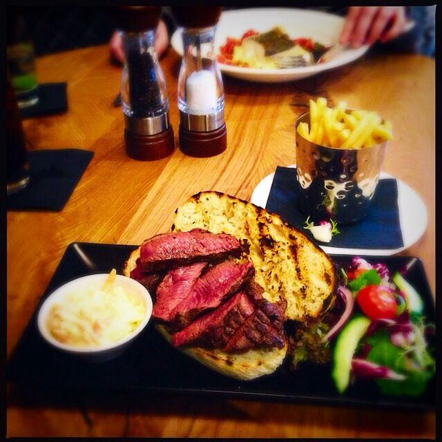 Steak sandwich Loks bar and kitchen Newlands Shawlands Glasgow