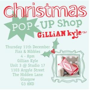 Gillian Kyle pop up shop Glasgow event