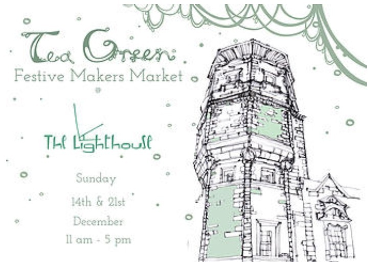 Tea green pop up Christmas the lighthouse Glasgow