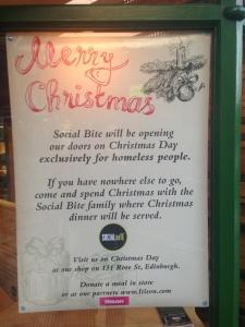 Social bite christmas dinner homeless