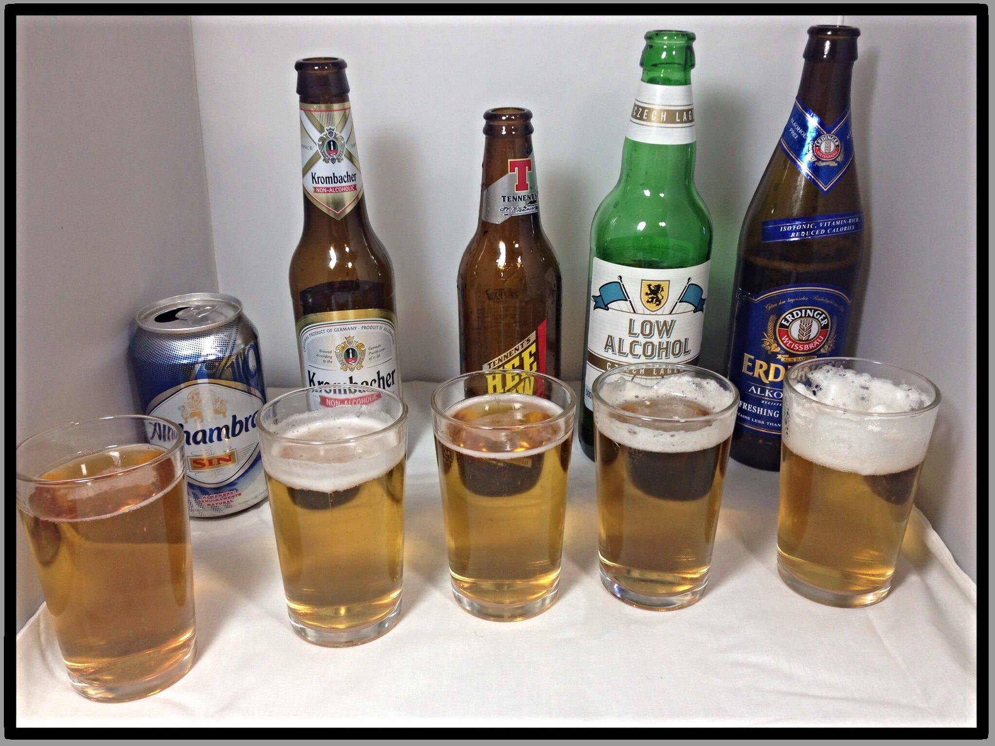 Low alcohol beer taste test