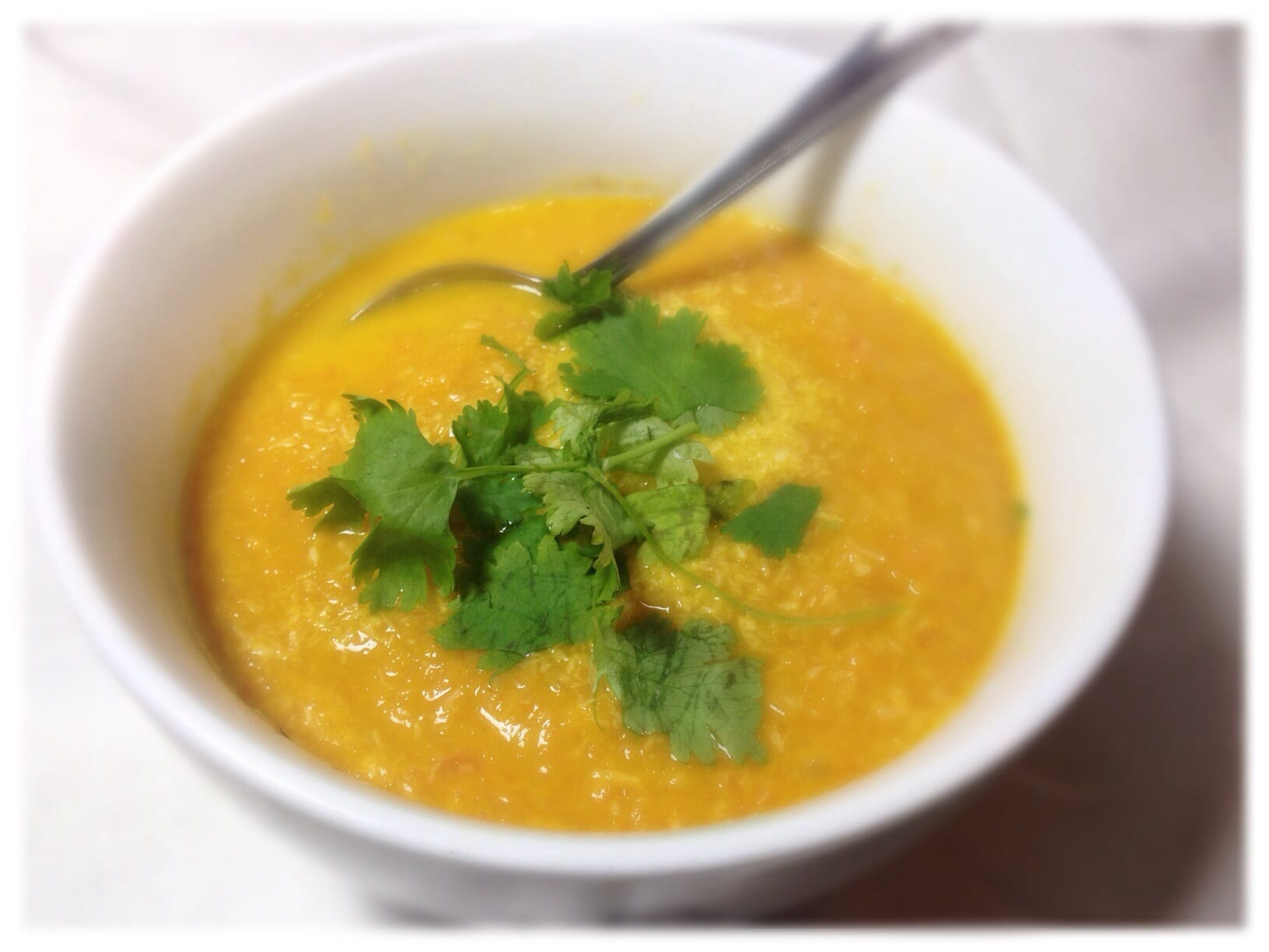 Carrot ginger coconut soup recipe