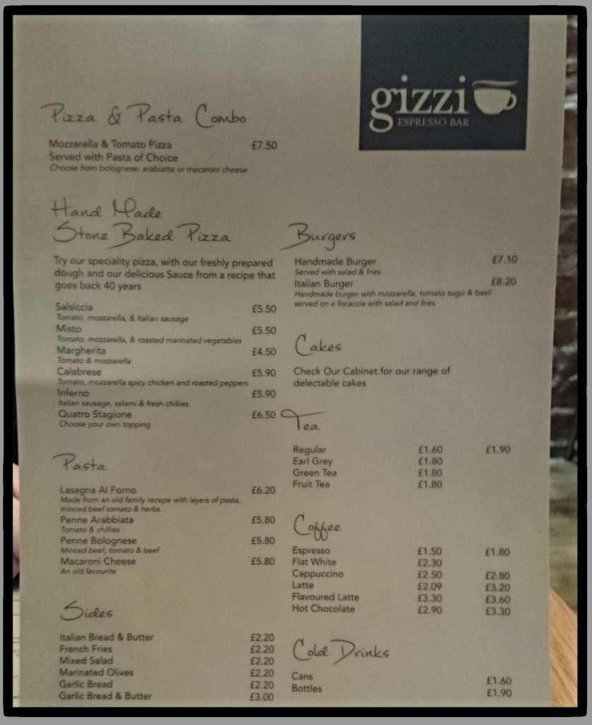Gizzi espresso bar Shawlands Glasgow