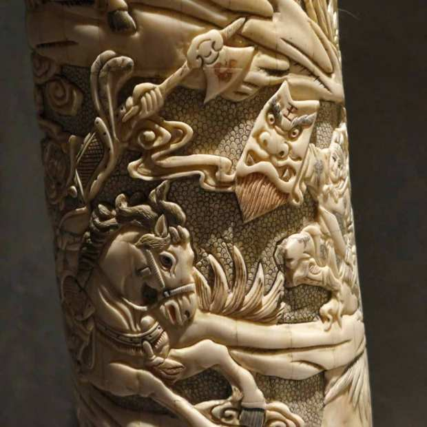 La Sultana - Elephant tusk detail