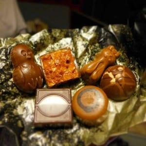 Chocolates inside the Hotel Chocolat egg