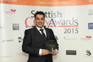 Maitre D' of the Year went to Abby Saleem (Spice Indian Cuisine, East Kilbride) scottish curry awards