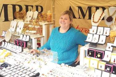 Glasgow Continental Market April 2015 - Amber Jewellery