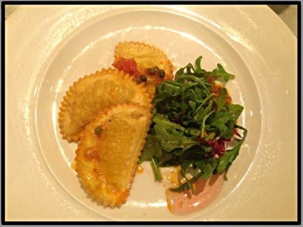 deep fried salt cod ravioli gusto glasgow
