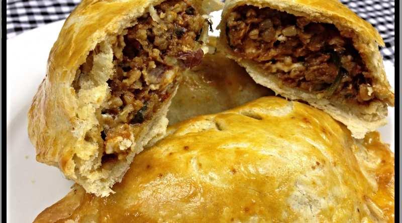 inside vegetarian haggis greek feta pie