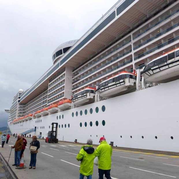 MSC Splendida - Docked at Greenock