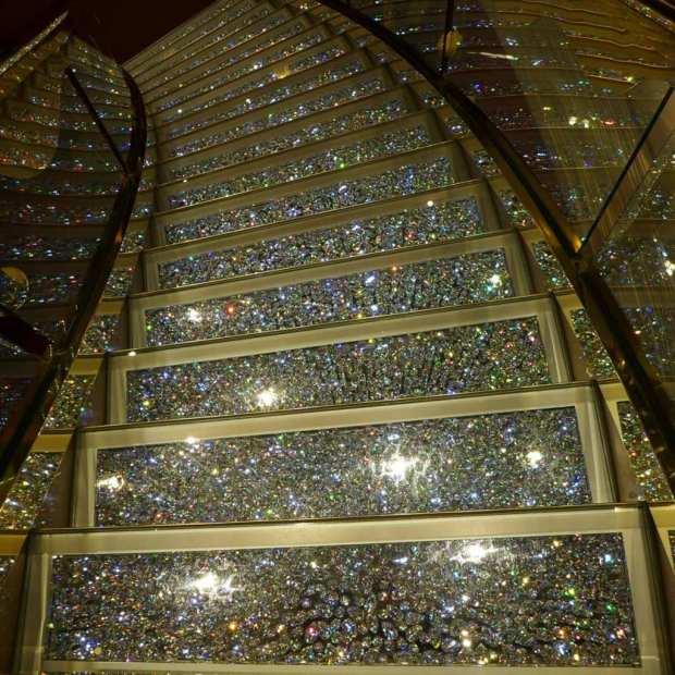 MSC Splendida - Swarovski staircase