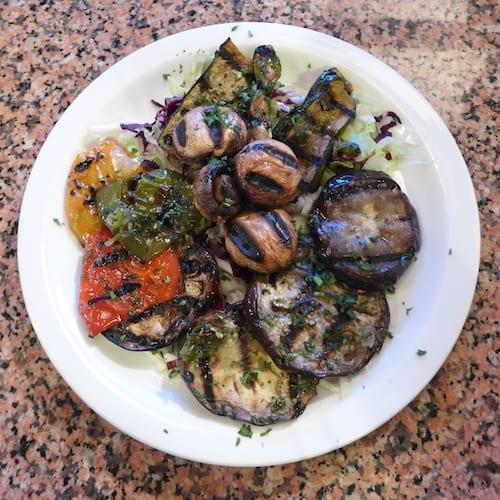 Glasgow foodie explorers food travel blog La_Piazza_york_Vegetables