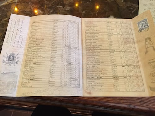 glasgow foodie explorers food blog Trading_house_Glasgow_Beer_menu