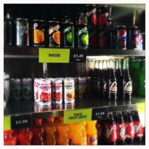 Soft drink selection taco mazama glasgow central railway station tex mex mexican glasgow foodie exlorers