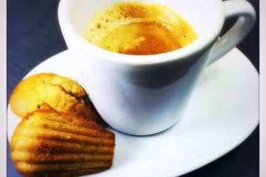 coffee and madeleines rose honey matcha madeleines french glasgow foodie explorers recipe