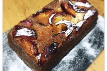lemon pound cake with plums recipe
