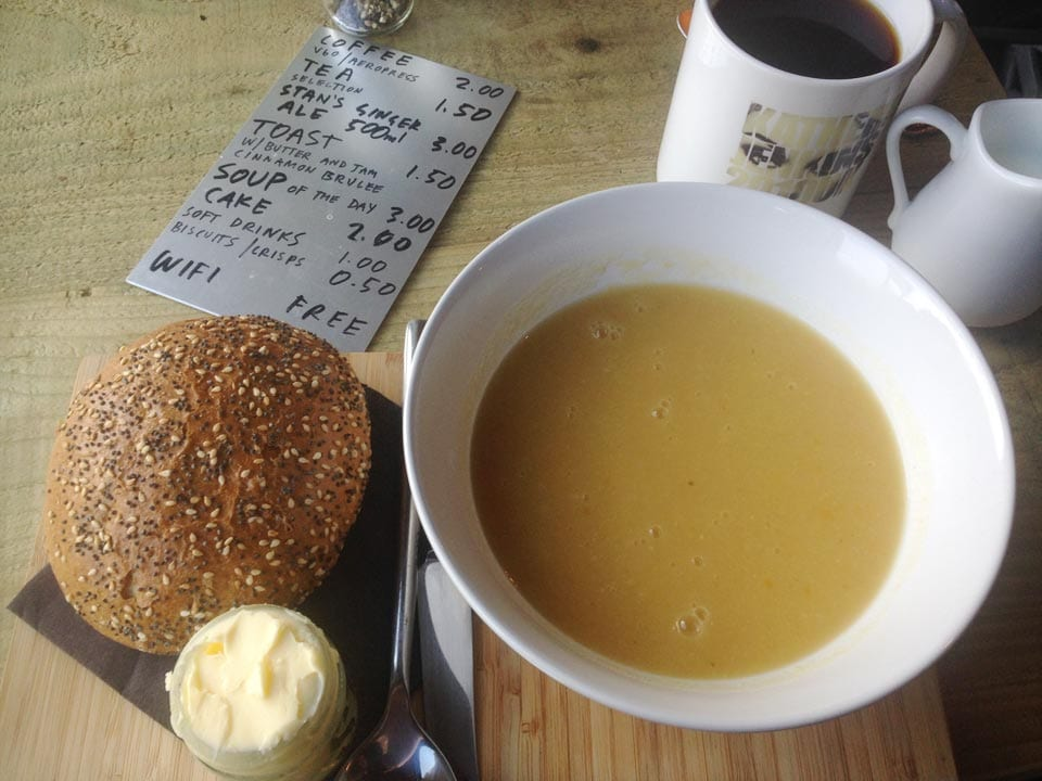 Stan's Studio - parsnip and yellow pea soup