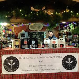 beers of scotland stall glasgow christmas market st enoch square glasgow