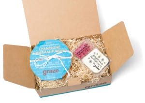 graze champagne christmas pudding