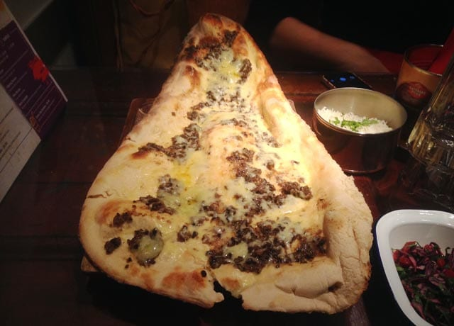 V Deep new menu - Haggis and Cheese Naan