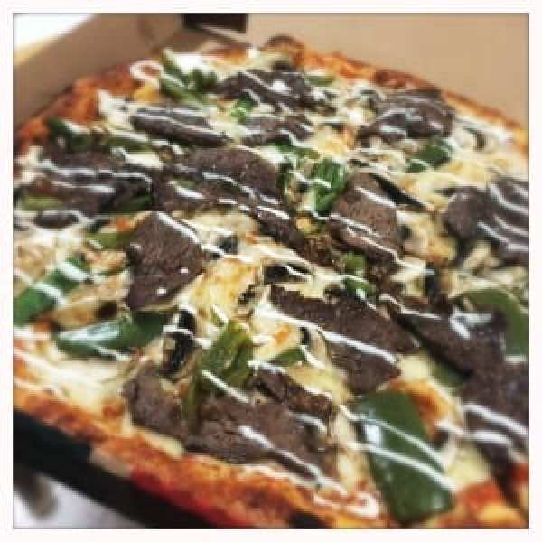 rib eye steak pizza cc's pizza pie company