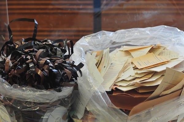 Stasi_museum_berlin_shredded_documents