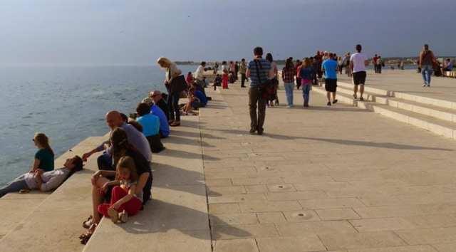 Sea organ at Zadar