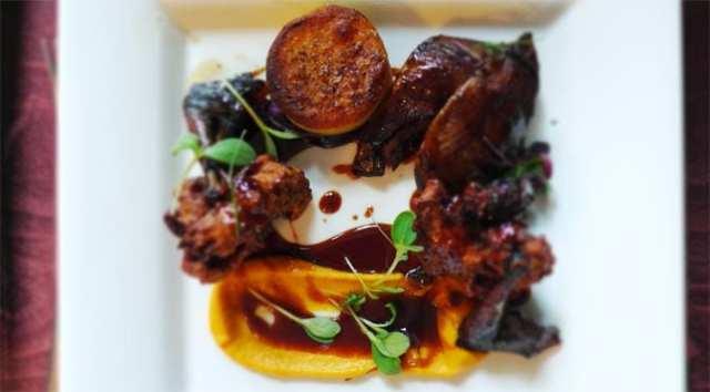 No 11 Brunswick St - Whole roast pigeon