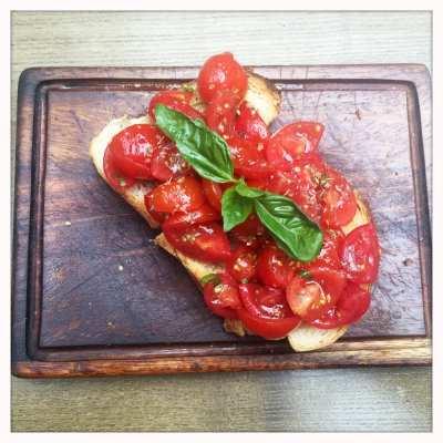 Bruschetta italian Osteria Glasgow