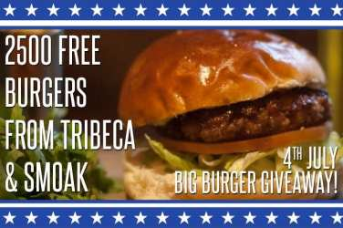TriBeCa free burgers