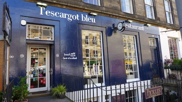 lescargot bleu edinburgh outside