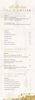 Chaophraya new menu