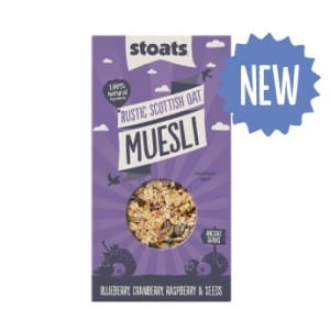 Stoats triple berry muesli