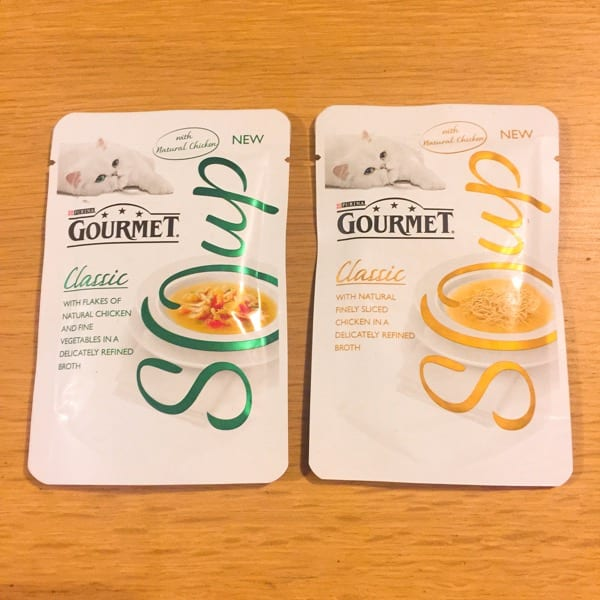 Gourmet soup for cats classic pouches