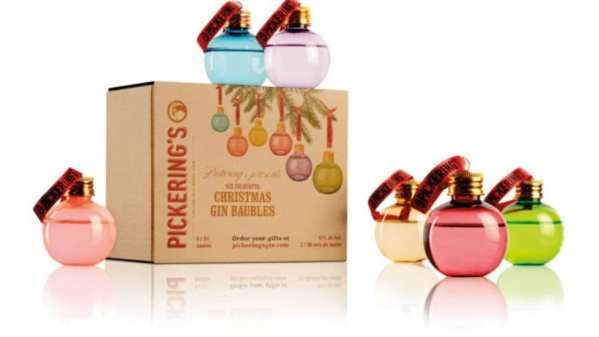 Pickering's gin baubles Christmas gift