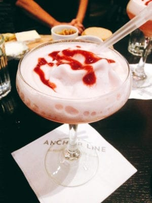 Walking food tour: The Marilyn Monroe cocktail at the Anchor Line
