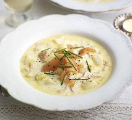Salmon leek and potato soup recipe