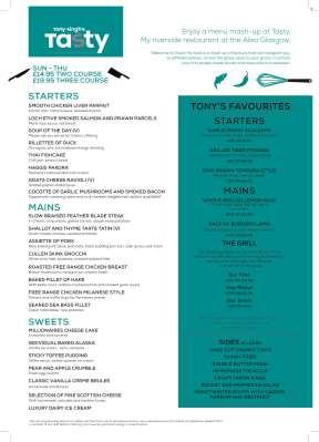 Tasty by Tony Singh January menu